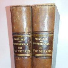 Libros antiguos: LOTE 2 LIBROS CONFERENCIA DE NUESTRA SEÑORA DE PARIS DOGMA CATÓLICO EDICIÓN VERGARA LIBROS 3 Y 6. Lote 133444947