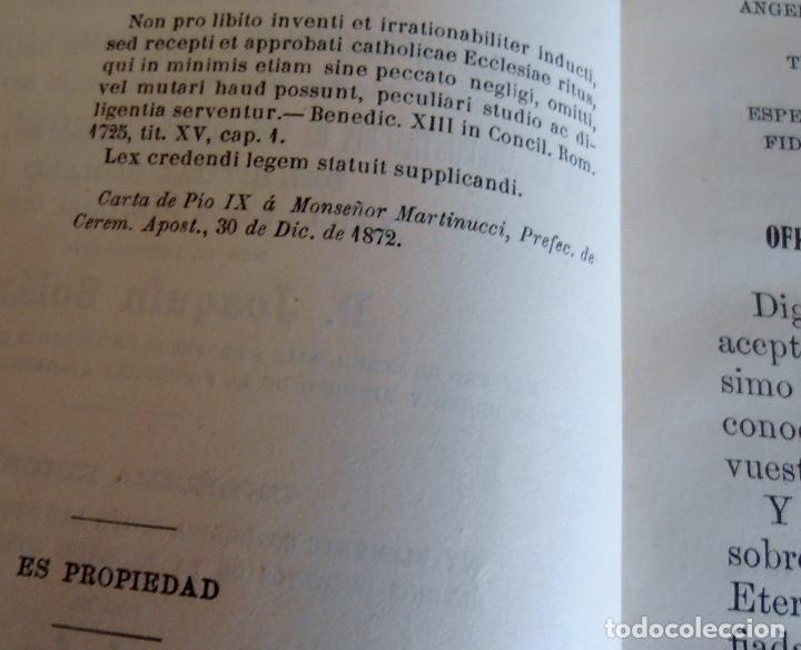 Libros antiguos: MANUAL LITURGICO, 2 TOMOS , SOLANS CASANUEVA - Foto 9 - 194280717