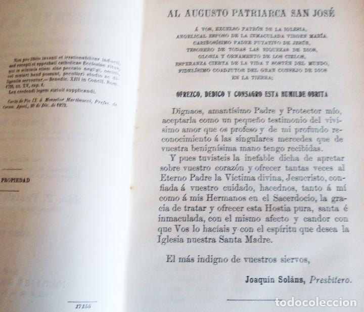 Libros antiguos: MANUAL LITURGICO, 2 TOMOS , SOLANS CASANUEVA - Foto 10 - 194280717