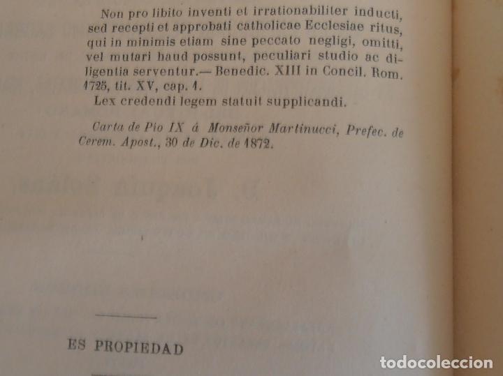 Libros antiguos: MANUAL LITURGICO, 2 TOMOS , SOLANS CASANUEVA - Foto 8 - 194280717