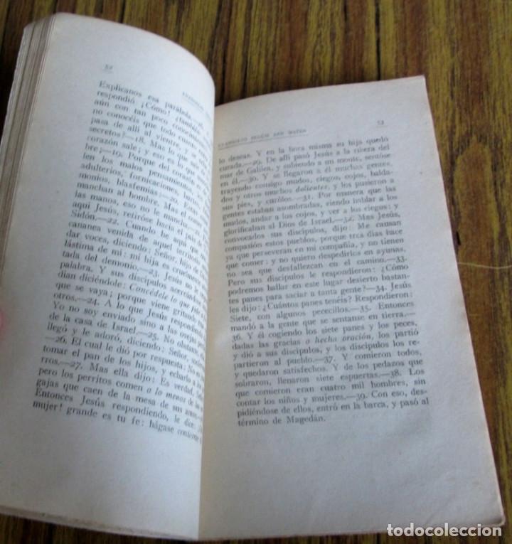 Libros antiguos: El Santo evangelio de nuestro Sr. Jesucristo según San Mateo 1922 - Foto 4 - 135367358
