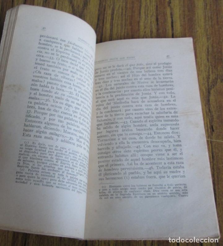 Libros antiguos: El Santo evangelio de nuestro Sr. Jesucristo según San Mateo 1922 - Foto 5 - 135367358