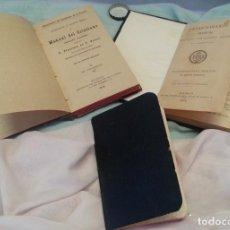 Libros antiguos: MANUAL CRISTIANO AÑO 1916 Y DEVOCIONARIO DEL AÑO 1905. CENTENARIOS.. Lote 135889182
