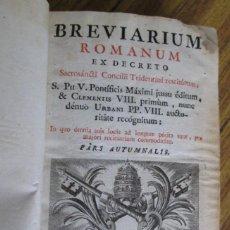 Libros antiguos: BREVIARIUM ROMANUM - EX DECRETO - SACROSANCTI CONCILII TRIDENTINI RESTITUTUM - MATRITI 1777. Lote 136067006