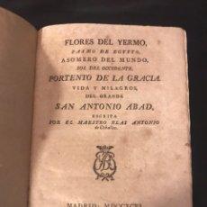 Libros antiguos: LA VIDA DE SAN ANTONIO ABAD / BLAS ANTONIO DE CEBALLOS. Lote 136082445