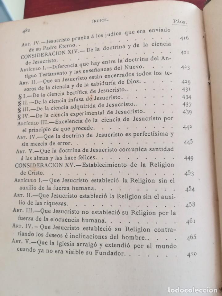 Libros antiguos: CONSID. TEOLOGICAS Y ESPIRITUALES SOBRE LAS GRANDEZAS DE JESUCRISTO-RUPERTO MARIA-1900 - Foto 6 - 136187318