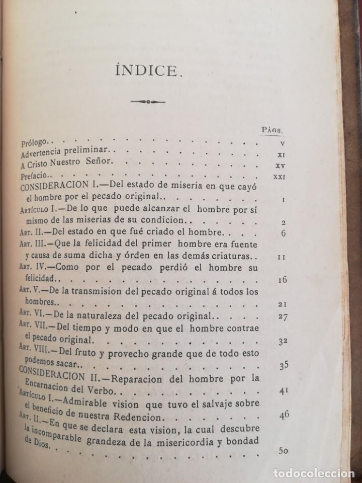 Libros antiguos: CONSID. TEOLOGICAS Y ESPIRITUALES SOBRE LAS GRANDEZAS DE JESUCRISTO-RUPERTO MARIA-1900 - Foto 8 - 136187318