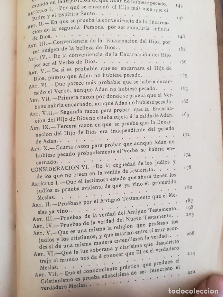 Libros antiguos: CONSID. TEOLOGICAS Y ESPIRITUALES SOBRE LAS GRANDEZAS DE JESUCRISTO-RUPERTO MARIA-1900 - Foto 11 - 136187318