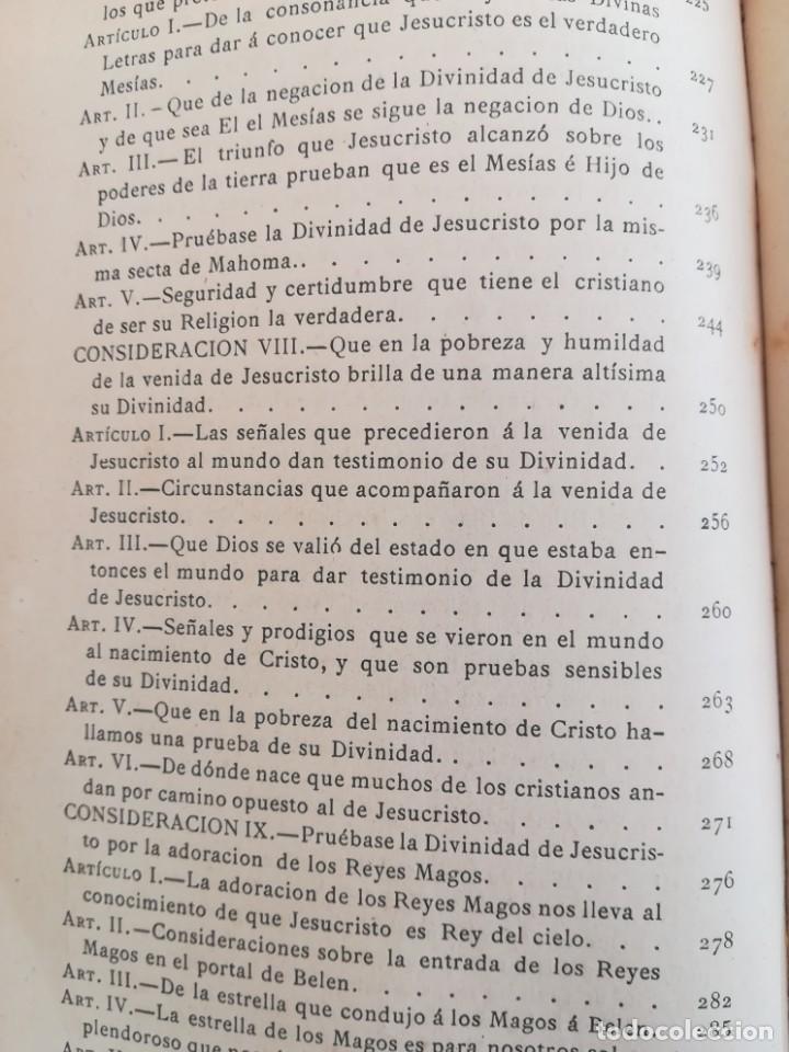 Libros antiguos: CONSID. TEOLOGICAS Y ESPIRITUALES SOBRE LAS GRANDEZAS DE JESUCRISTO-RUPERTO MARIA-1900 - Foto 12 - 136187318