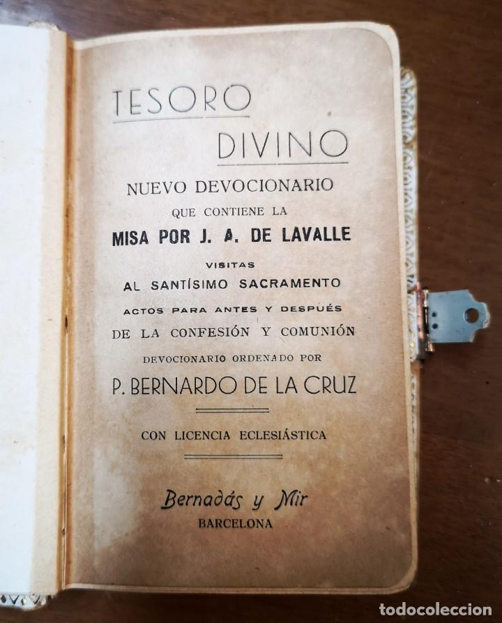 Libros antiguos: TESORO DIVINO-NUEVO DEVOCIONARIO-J.A.DE LAVALLE-BERNARDO DE LA CRUZ-ED.BERNADÁS Y MIR-BARCELONA - Foto 7 - 136205190