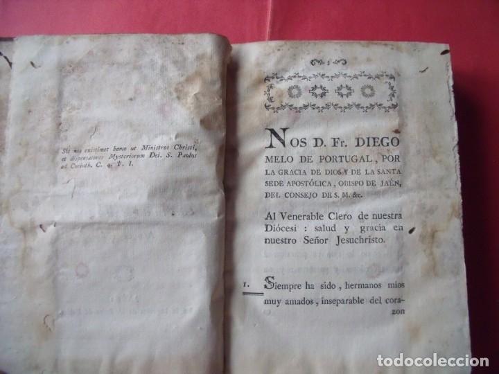 Libros antiguos: FRAY DIEGO MELO DE PORTUGAL.-OBISPO DE JAEN.-PASTORAL.-IMPRENTA PEDRO DOBLAS.-JAEN.-AÑO 1799. - Foto 2 - 136260962