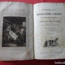 Libros antiguos: EUGENIO DE GENOUDE.-BIOGRAFIA SACRA.-BIBLIA.-GRABADOS.-RELIGION.-PARIS.-AÑO 1844.. Lote 136261334