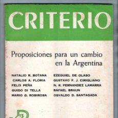 Libros antiguos: CRITERIO # 1609/10 EXTRAORDINARIO 1970 IGLESIA CATOLICA BOTANA FLORIA PEÑA DI TELLA SANTAGADA 110 P. Lote 137176050