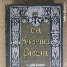 Libros antiguos: SAGRADA BIBLIA - CUATRO VOLÚMENES - TORRES AMAT. Lote 194506722