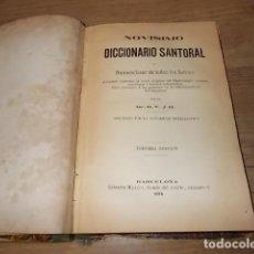 Libros antiguos: NOVÍSIMO DICCIONARIO SANTORAL.NOMENCLADOR DE TODOS LOS SANTOS. LIBRERÍA MAUCCI. 1894. UNA JOYA!!!. Lote 137727230