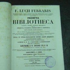 Libros antiguos: PROMPTA BIBLIOTHECA CANONICA - FERRARIS- TOMUS 6 - PARIS 1861. Lote 137963254