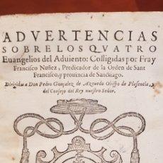Libros antiguos: ADVERTENCIAS SOBRE LOS QUATRO EVANGELIOS, 1595. Lote 138110468