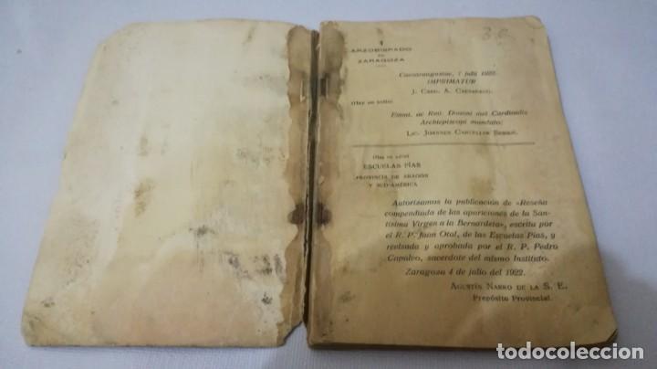 Libros antiguos: NUESTRA SEÑORA DE LOURDES-1922-JUAN OTAL ESCUELAS PIAS-ZARAGOZA - Foto 3 - 138835518