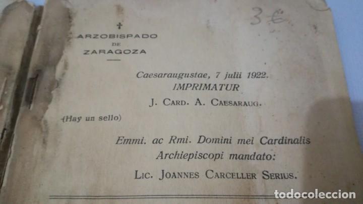 Libros antiguos: NUESTRA SEÑORA DE LOURDES-1922-JUAN OTAL ESCUELAS PIAS-ZARAGOZA - Foto 4 - 138835518