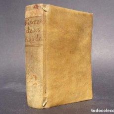 Libros antiguos: 1726 PRODIGIOS, Y FINEZAS DE LOS SANTOS ANGELES, HECHAS EN EL PRINCIPADO DE CATALUÑA - PERGAMINO. Lote 138844954