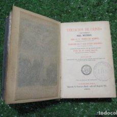 Libros antiguos: 1891 LIBRO MINIATURA CON GRABADOS - KEMPIS / NIEREMBERG - LA IMITACIÓN DE CRISTO. Lote 138890314
