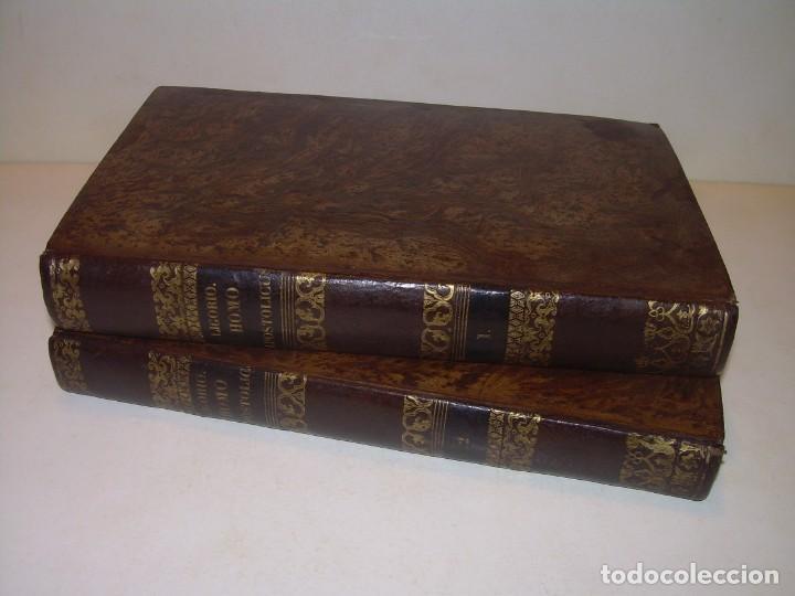 DOS TOMOS TAPAS DE PIEL..HOMO APOSTOLICUS....AÑO 1844 (Libros Antiguos, Raros y Curiosos - Religión)
