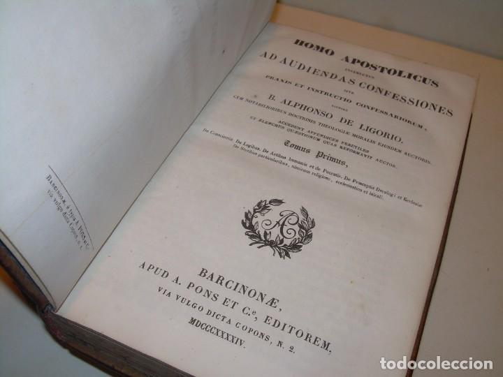 Libros antiguos: DOS TOMOS TAPAS DE PIEL..HOMO APOSTOLICUS....AÑO 1844 - Foto 3 - 139183462