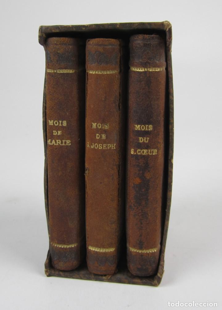 PETIT MOIS DE MARIE NOTRE MÈRE, DE SAINT JOSEPH ET DU SACRÉ COEUR, J. MARANDAT, LIMOGES. 5,5X9CM (Libros Antiguos, Raros y Curiosos - Religión)