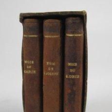 Libros antiguos: PETIT MOIS DE MARIE NOTRE MÈRE, DE SAINT JOSEPH ET DU SACRÉ COEUR, J. MARANDAT, LIMOGES. 5,5X9CM. Lote 139399030