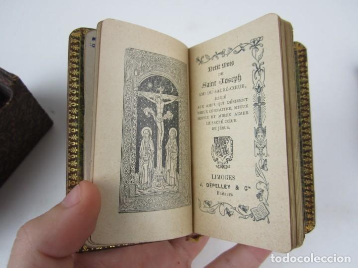 Libros antiguos: Petit mois de Marie notre mère, de Saint Joseph et du sacré coeur, J. Marandat, Limoges. 5,5x9cm - Foto 3 - 139399030
