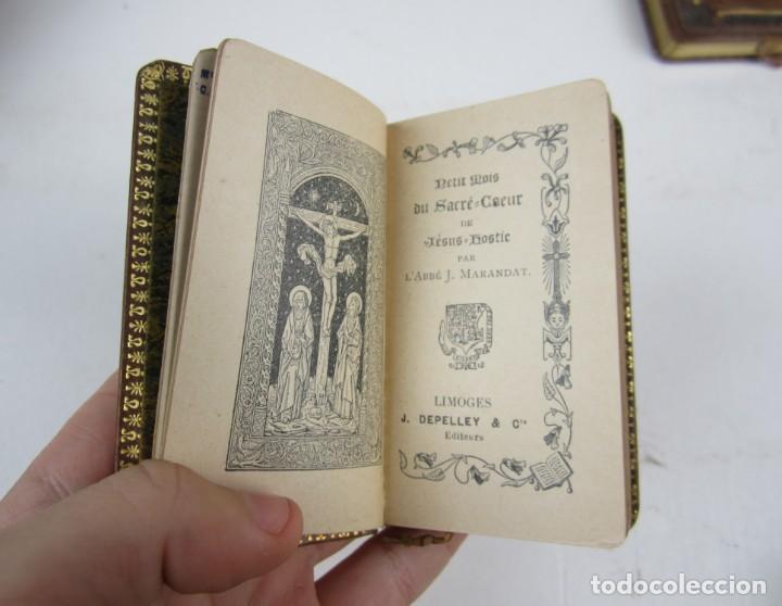 Libros antiguos: Petit mois de Marie notre mère, de Saint Joseph et du sacré coeur, J. Marandat, Limoges. 5,5x9cm - Foto 5 - 139399030