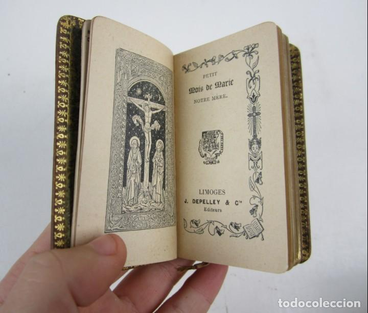 Libros antiguos: Petit mois de Marie notre mère, de Saint Joseph et du sacré coeur, J. Marandat, Limoges. 5,5x9cm - Foto 6 - 139399030