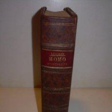 Libros antiguos: LIBRO TAPAS DE PIEL...HOMO APOSTOLICUS...AÑO. 1888. Lote 139596766