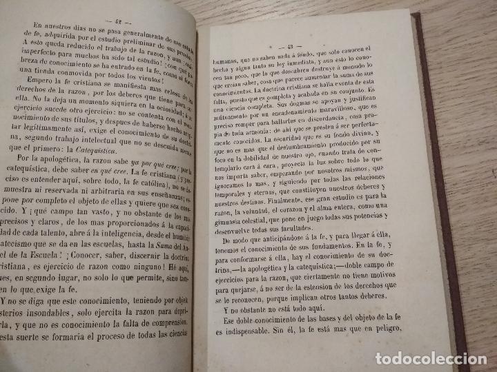 Libros antiguos: la razon y el evangelio / augusto nicolas - Foto 2 - 140079498