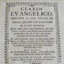 Libros antiguos: CLARÍN EVANGÉLICO. DIRIGIDO A LOS CURAS DE ALMAS. TOMO PRIMERO. ALFONSO BURGUETE. PAMPLONA. 1730. Lote 140245246