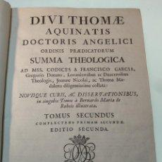 Libros antiguos: DIVI THOME AQUINATIS SUMMA THEOLOGICA - TOMIUS SECUNDUS - D. JOSEPHI DOBLADO - MATRITI - 1797 -. Lote 140318682