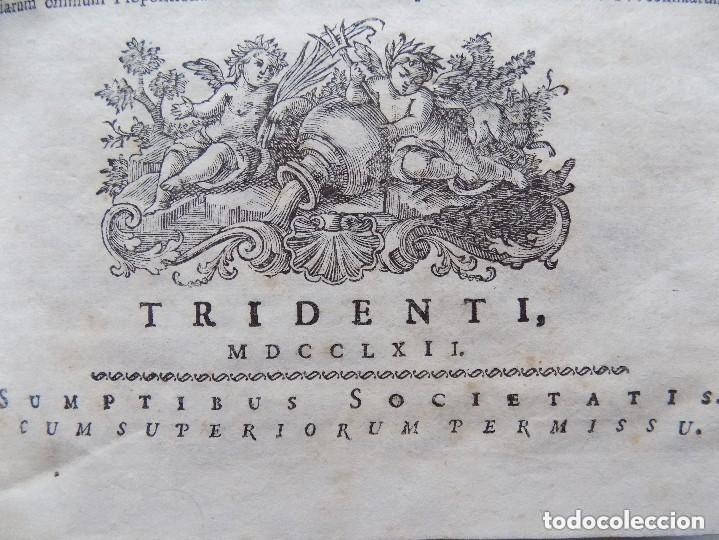 LIBRERIA GHOTICA. SACROSANCTUM. DECUMENICUM CONCLIUM TRIDENTINUM. 1762. FOLIO. PERGAMINO. (Libros Antiguos, Raros y Curiosos - Religión)