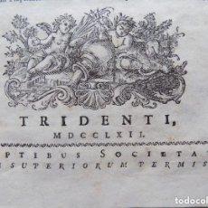 Libros antiguos: LIBRERIA GHOTICA. SACROSANCTUM. DECUMENICUM CONCLIUM TRIDENTINUM. 1762. FOLIO. PERGAMINO.. Lote 140898574