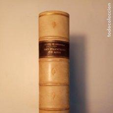 Libros antiguos: SAN FRANCISCO DE ASIS LUIS DE SARASOLA 1929 EDIC. 200 EJEMP. 135/200 AGUAFUERTES DE BENITO BARRUETA. Lote 140862590