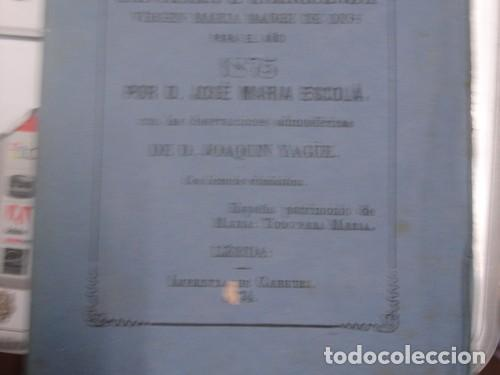 Calendario Mariano.Calendario Mariano Santisima E Inmaculada Virgen Maria 1875 Portal Del Col Leccionista