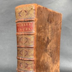 Libros antiguos: 1727 - BIBLIA SACRA VULGATAE EDITIONIS - BIBLIA CATÓLICA EN LATÍN - ENCUADERNACIÓN - . Lote 141747886
