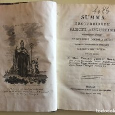 Libros antiguos: RELIGION- SUMMA PROVERBIORUM SANCTI AUGUSTINI- SAN AGUSTIN- SEVILLA 1.832. Lote 141916410