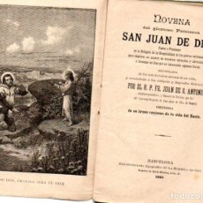 Libros antiguos: NOVENA DE SAN JUAN DE DIOS (1895). Lote 142269494