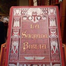 Libros antiguos: LA SAGRADA BIBLIA. EDICIÓN LUJO. ILUSTRADO POR GUSTAVO DORÉ. MONTANER Y SIMÓN 1883. Lote 142517538