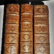 Libros antiguos: AÑO 1679: 3 TOMOS DEL SIGLO XVII DEL JESUITA TYRAN. ELEGANTES Y BIEN CONSERVADOS.. Lote 142891474
