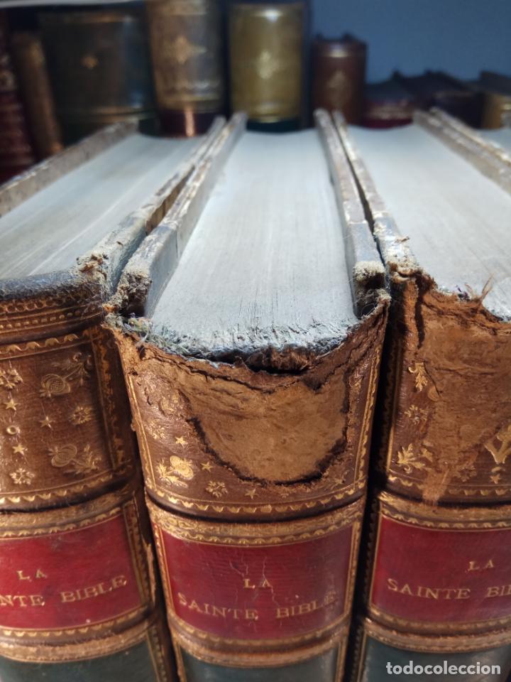 Libros antiguos: BELLÍSIMA SANTA BIBLIA EN 5 TOMOS - LEMAISTRE DE SACY - EXTRAORDINARIOS GRABADOS - 1857 - PARÍS - - Foto 4 - 142910874