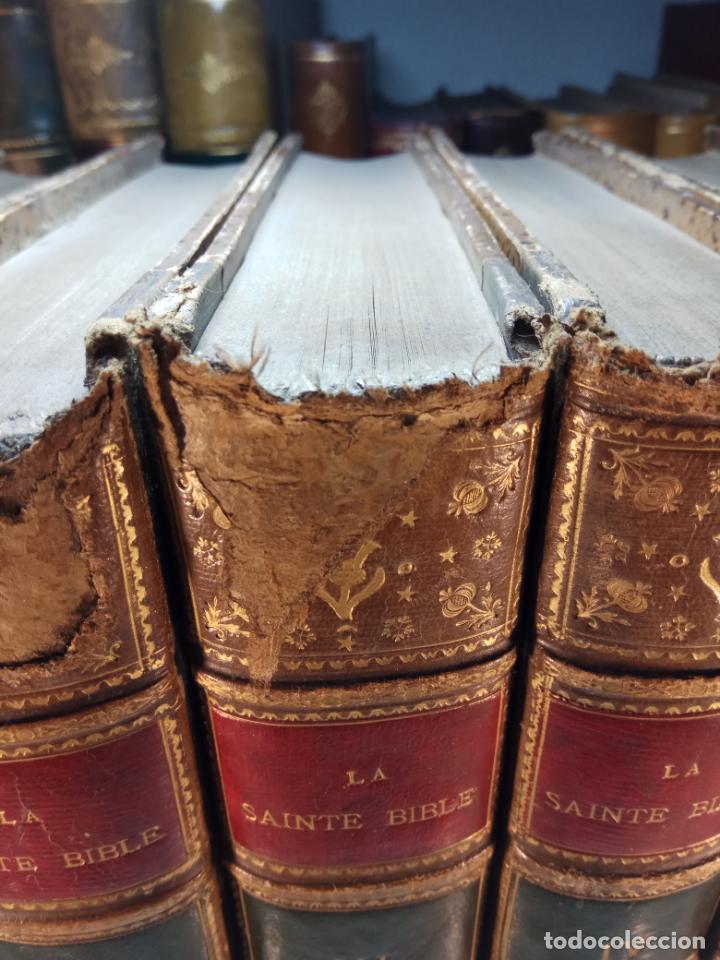Libros antiguos: BELLÍSIMA SANTA BIBLIA EN 5 TOMOS - LEMAISTRE DE SACY - EXTRAORDINARIOS GRABADOS - 1857 - PARÍS - - Foto 5 - 142910874