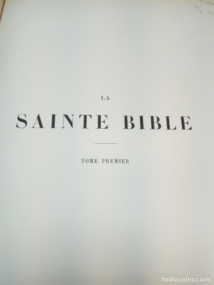 Libros antiguos: BELLÍSIMA SANTA BIBLIA EN 5 TOMOS - LEMAISTRE DE SACY - EXTRAORDINARIOS GRABADOS - 1857 - PARÍS - - Foto 9 - 142910874