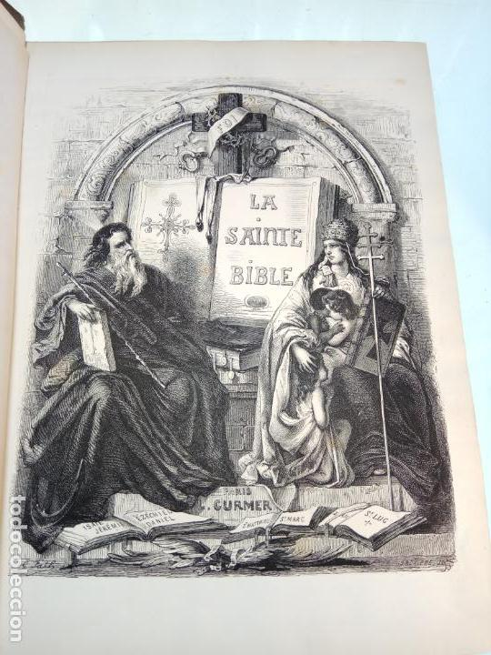 Libros antiguos: BELLÍSIMA SANTA BIBLIA EN 5 TOMOS - LEMAISTRE DE SACY - EXTRAORDINARIOS GRABADOS - 1857 - PARÍS - - Foto 10 - 142910874