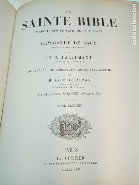 Libros antiguos: BELLÍSIMA SANTA BIBLIA EN 5 TOMOS - LEMAISTRE DE SACY - EXTRAORDINARIOS GRABADOS - 1857 - PARÍS - - Foto 11 - 142910874